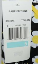 Rare Editions Girls Cotton Lace Sleeves Back Yellow Black Flowers Size 5 image 7