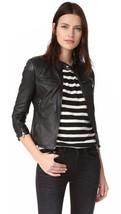 Black Biker Leather Jacket Women Moto Pure Lambskin Slim Fit Size S M L XL XXL - $170.34