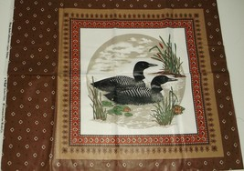 """2 Loons Water Fowl Quilting Crafting Sewing Pillow Panel  15 1/2"""" x 15 1/2"""" - $5.20"""