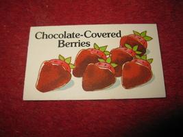 1983 Strawberry Shortcake Housewarming Surprise Board Game Part: Recipe Card #10 - $1.00