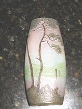 Signed Legras Cameo Art Glass Cabinet Vase, ca. 1900 - $600.00