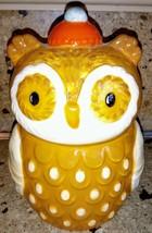 Harvest Owl Candy Jar Canister Ceramic - $9.89