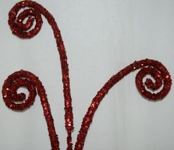 Unbranded 53574 Red Sequins Swirl Curl Spray Christmas Decoration image 4
