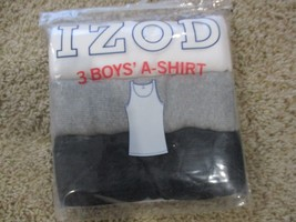 BNWT Izod 3pk Boys' A-Shirts/Tanks, Multi color packs, XL(16-18), 100% c... - $15.00