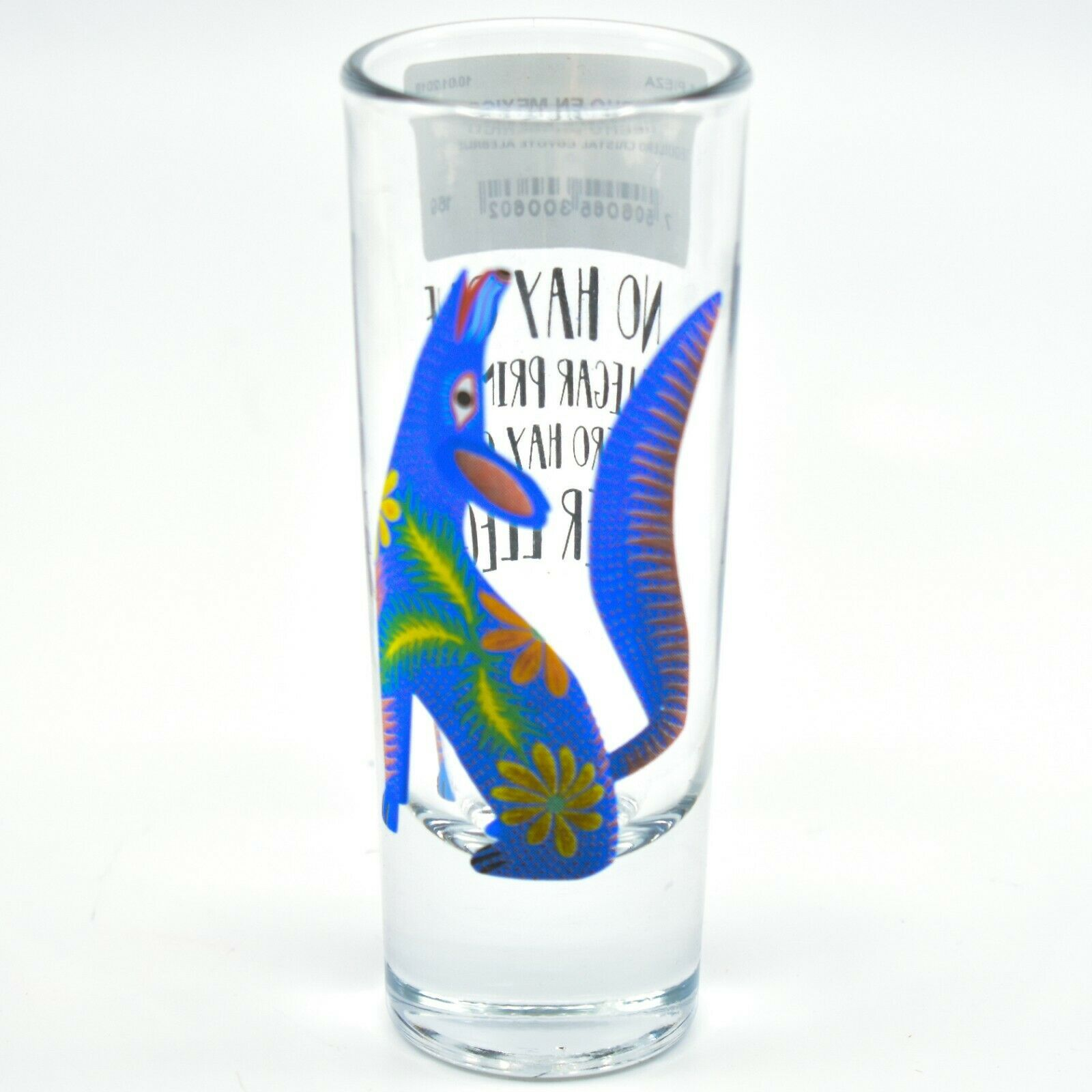 Howling Wolf Alebrije Printed Design Tequila Shot Glass Shooter Made in Mexico