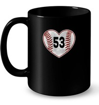 Vintage Baseball Mom Ceramic Mug Distressed 53 Ceramic Mug - $13.99+