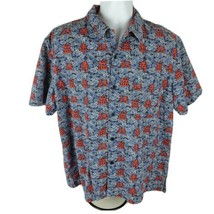 Polo Ralph Lauren Mens Button Front Shirt Sz M Med Chinese Blue Clouds A... - $32.74