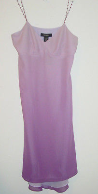 Express purple dress ombre fade beaded straps 100% silk-5/6-NEW $88.