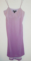 Express purple dress ombre fade beaded straps 100% silk-5/6-NEW $88. - $21.33