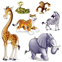 Jungle Animal Props Party Accessory (1 count) (6/Pkg) - $7.68