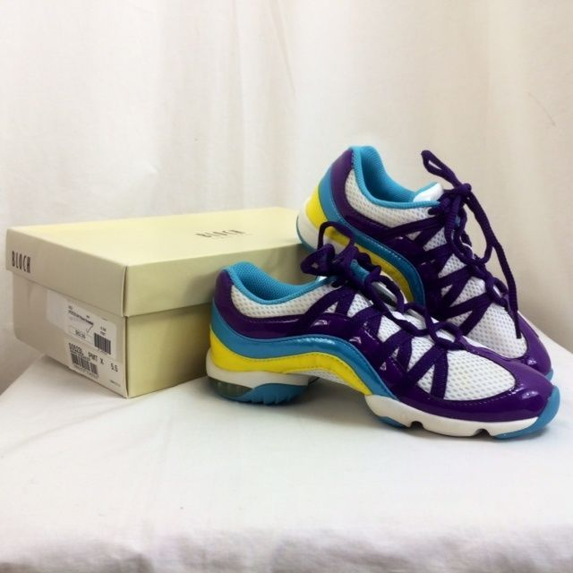Bloch Wave Multi-Purple Fitness Sneakers SO523L, Womens Size 4 Nib $62.99