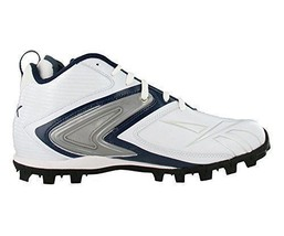 Reebok Pro Ferocious AT Men's Football Shoes Cleats (18, White/Navy) - $15.50