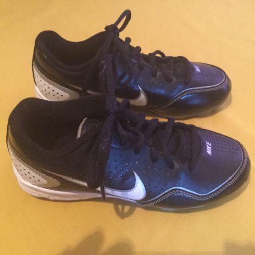 new product 6c65a 9e6fc 12. 12. Nike cleats Youth Size 2Y Keystone baseball softball athletic black  white shoes
