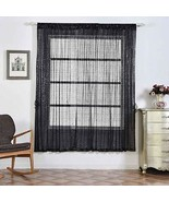Sequin Room Darkening Window Treatment Panel Drape with Rod Pockets Blac... - $132.48