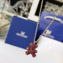 Swarovski Teddy 3D Pendant, Red, RHS Crystal necklace gift with box image 2