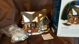Dept 56 Original Snow Village 1999 - CEDAR POINT CABIN 55009 Retired 2002 - $44.00