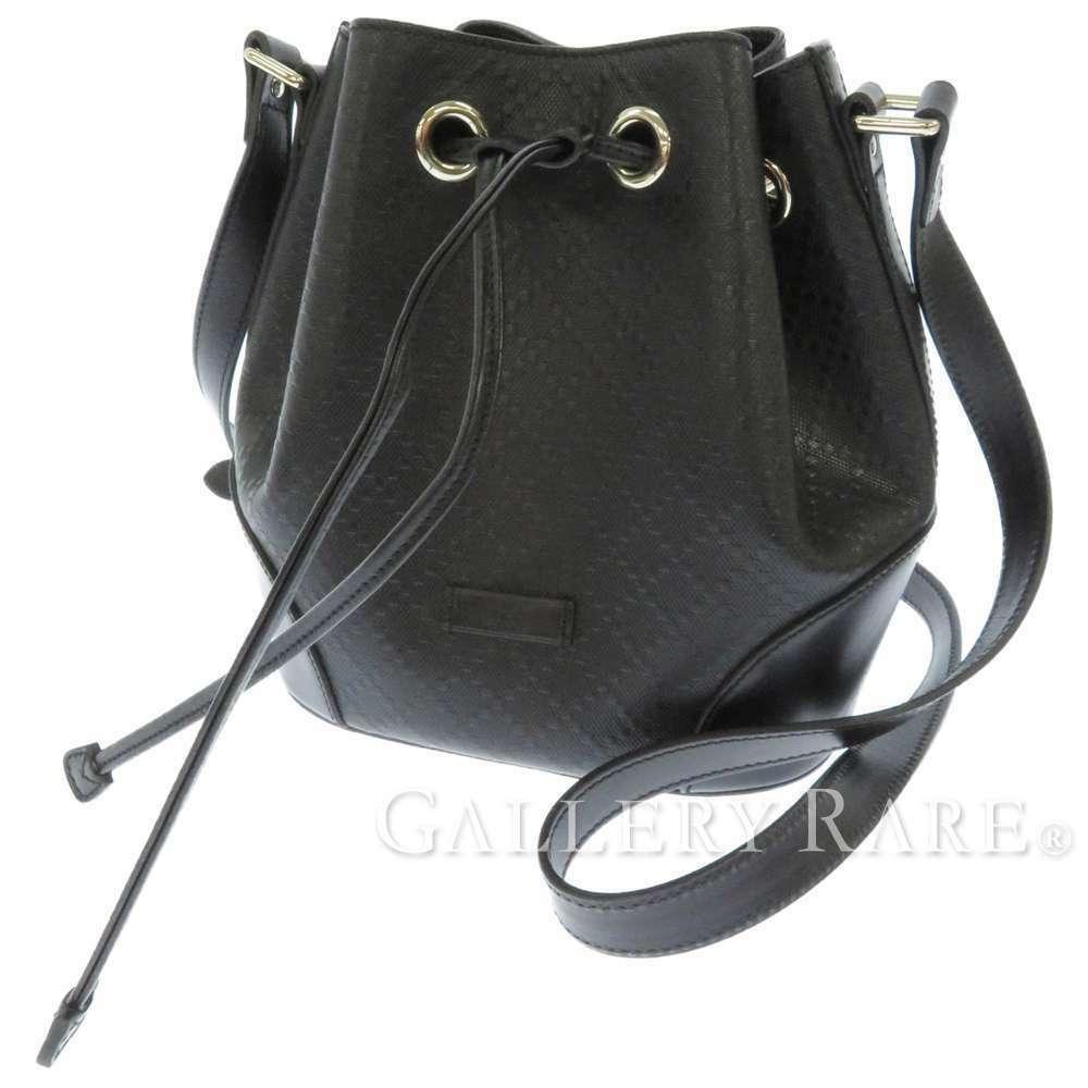 GUCCI Diamente Leather Black Shoulder Bag 354229 One shoulder Italy Authentic