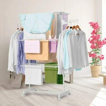 Novohogar Drying Rack Of Clothing Folding Vertical. 3 Levels Plus 2 Side... - $199.00