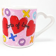 Lots of Love Coffee Mug Cup 12oz Vintage Russ Valentines Day Heart k749 - $13.99