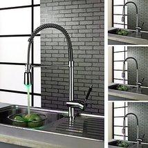 Contemporary Chrome Finish Single Handle LED Kictchen Faucet - $226.66