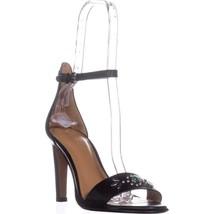 Coach Indi Ankle Strap Dress Sandals, Black, 8 US / 38 EU - $95.99