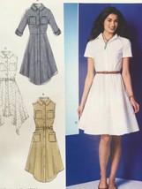 McCalls Sewing Pattern 7351 Ladies/Misses Dresses Belt Size 14-22 New - $17.79