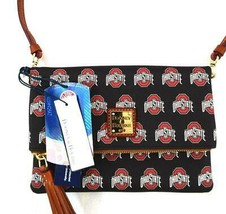 AUTHENTIC NEW NWT DOONEY & BOURKE $158 OHIO STATE BLACK CROSSBODY BAG 0173 - £64.70 GBP