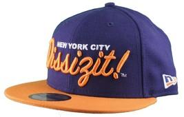 Dissizit New Era Fitted 59Fifty NY Hat Navy Orange New York City