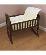 Baby Doll Bedding Kingdom Cradle Bedding Set (Comforter Bumper Sheet) Sage - $42.42