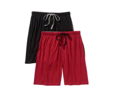 Hanes-Men's Knit Sleep Shorts, Assorted colors 2-pk image 4