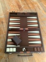 Vintage Backgammon Game Set Original Case mid century modern retro - $39.99