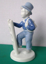 Gerold Porzellan Small Boy With Rucksack on Ladder Figurine Bavaria West... - $14.97