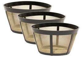 3 PK GoldTone™ Permanent Reusable Basket Coffee Filter Fits BUNN®* Coffe... - $34.64