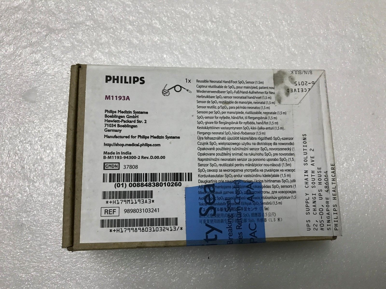 Primary image for New Philips M1193A Infant SpO2 sensor hand/foot wrap M1193A-6000 453563255631