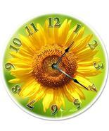 "Sugar Vine Art 12"" Bright Yellow Sunflower Clock - Large 12 inch Wall Cl... - $24.29"