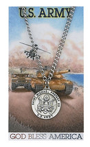 Army with St. Michael necklace along with a laminated prayer card and magnet  - $12.95