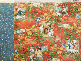 Graphic 45 Christmas Magic 12x12 Cardstock Sheets and Sticker Sheet image 7