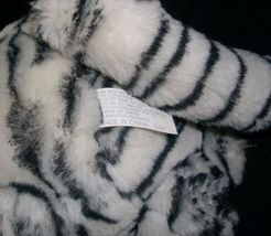 VINTAGE MAIN JOY LIMITED WHITE BLACK PURRING PURR TIGER STUFFED ANIMAL PLUSH TOY image 5