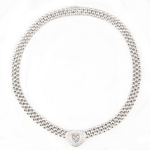 Chopard Happy Diamond 18K White Gold Heart Necklace Original Box Included - $21,384.00