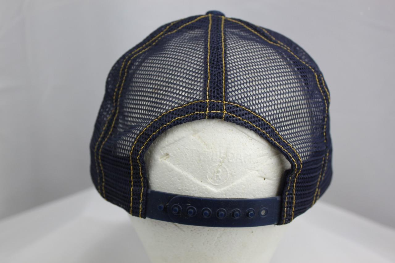 Proud To Be American Embroidered Snapback Jean Mesh Trucker Hat Made in USA image 3