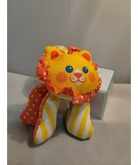 """1990 Fisher Price Zoo Grabbers LION 7"""" Plush Rattle Toy - $14.01"""