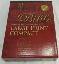 NEW HCSB LARGE PRINT COMPACT BIBLE BLACK BONDED LEATHER IN ORIGINAL BOX -H1 - $12.49