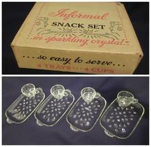 Hazel Atlas Informal Snack Set Vintage Glass Teardrop - $14.82