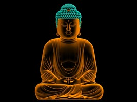 BUDDHA POSTER POSTER | 24 x 36 INCH | GLOWING - $18.99