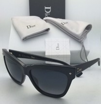 New CHRISTIAN DIOR Sunglasses DIORJUPON2 807HD 55-15 Black Frames w/ Grey Lenses