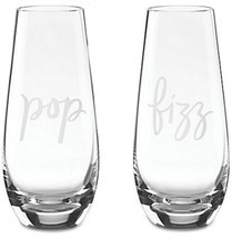 Kate Spade New York Two Of A Kind 'Pop' And 'Fizz' Stemless Champagne Gl... - $64.30