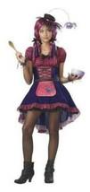 Girls Miss Muffet Along Came A Spider Dress Hat 4 Pc Halloween Costume-sz 10/12 - $28.71
