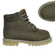 """Timberland LIMITED RELEASE Toddlers KIDS 6"""" Premium Dark Green Suede Boo... - $1.224,23 MXN"""