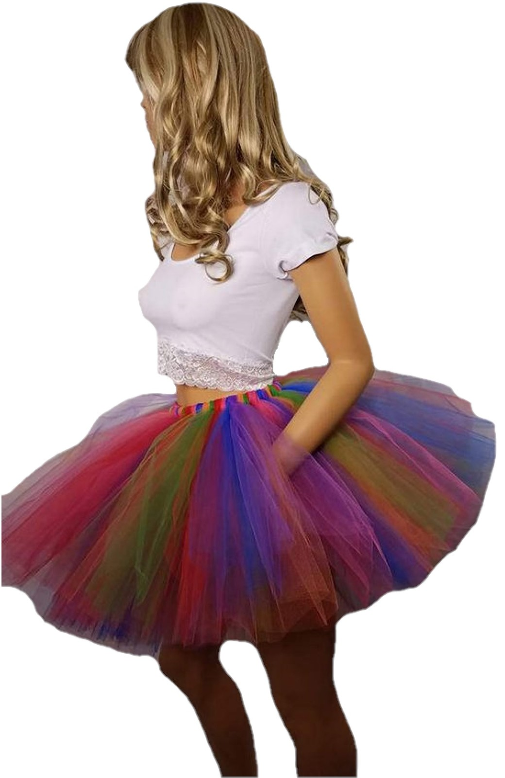 Festive Rainbow Tutu: Available in Child and Adult Sizes