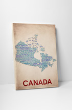 Canada Cities Map Gallery Wrapped Canvas Wall Art - $43.95+